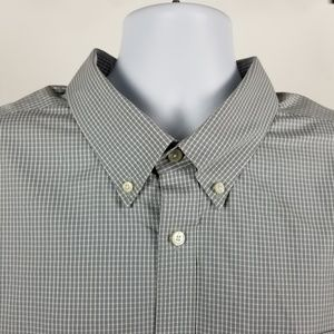 Eddie Bauer Wrinkle Free Relaxed Fit Gray Check